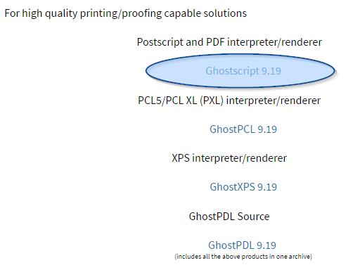 Instalacja Ghostscript 1
