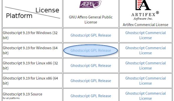 Instalacja Ghostscript 2