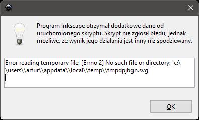 Inkscape błąd 1