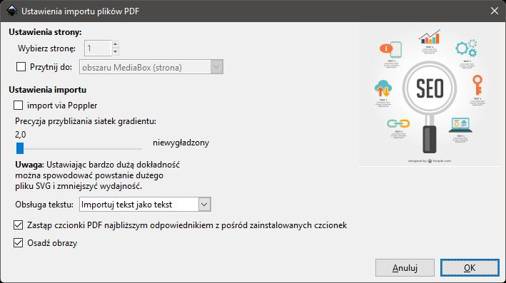 Inkscape import pliku EPS 3