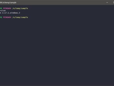 Git - sprawdzenie zainstalowanej wersji