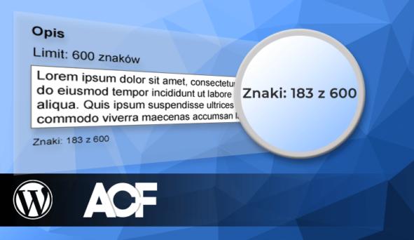 ACF - licznik znaków