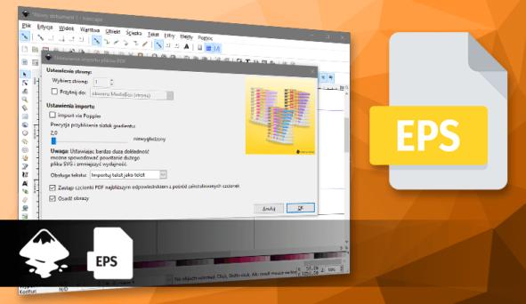 Import pliku EPS w Inkscape